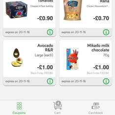 Free after cashback, Mikado chocolates and large avocado, from sainsburys and Green jinn app