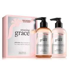 Philosophy amazing grace 20th anniversary hand care duo gift box was £26 now £13 - half price @ Boots
