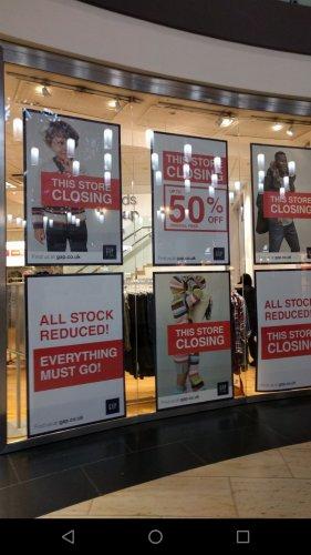 GAP Solihull - closing down sale