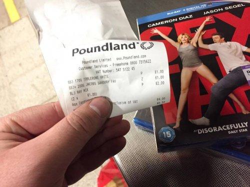 Blu Rays for £1 sealed brand new (Sex Tape / Columbian / Slum Dog Millionaire) ) @ Poundland instore!!