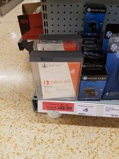 office 365 Personal £12.50 @ sainsburys instore