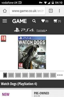 WATCH_DOGS (PS4) (Used) - £4.49 @ GAME