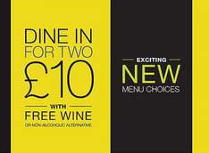 Italian meal deal (1 main, 2 sides and bottle of wine) for £10 and pizza meal deal (1 pizza and 2 sides) for £8 at M&S