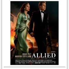 free  tickets for Allied, Monday 21st November