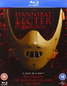 The Hannibal Lecter Trilogy Blu-ray £7 (£8.99 Non Prime) @ Amazon