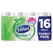 Velvet Comfort 16 rolls for £5  @ tesco