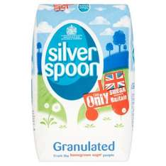 Silver Spoon Granulated Sugar 2Kg for 88p in Morrisons.