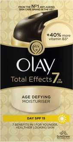 Olay Total Effects Moisturiser Day Cream Spf 15 (50ml) was £15.00 now £7.50 @ Tesco