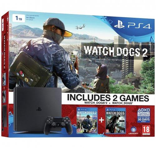 PS4 Slim 1TB Watch Dogs 2 Console Bundle £249.99 @ Argos