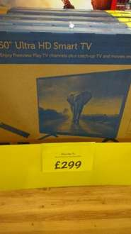 Polaroid 50inch 4K Ultra HD TV £299 @ Asda Living, The Fort, Glasgow