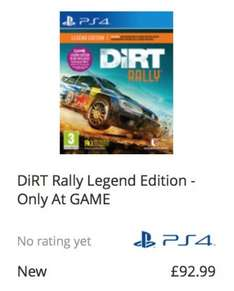 Dirt Rally Legend Edition PS4 Only At GAME £92.99