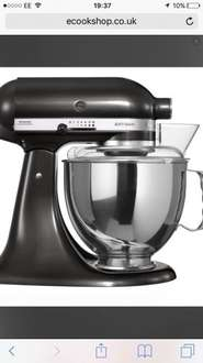 KitchenAid Artisan Mixer 4.8L Black Storm KSM150PSBZ £299@ ecookshop