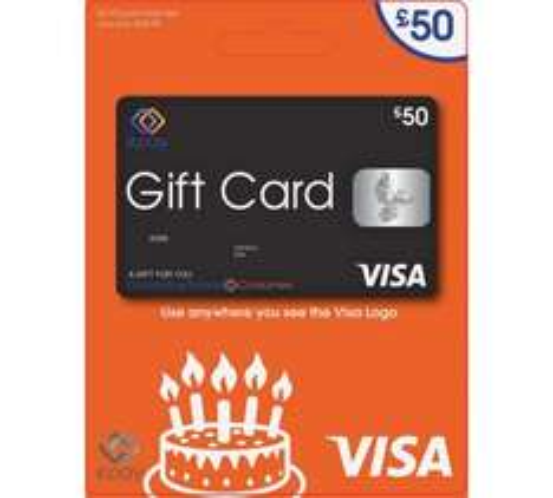 £50 VISA Gift card for  £53.95 (£48.56 via quidco [1hr left]) @ Argos