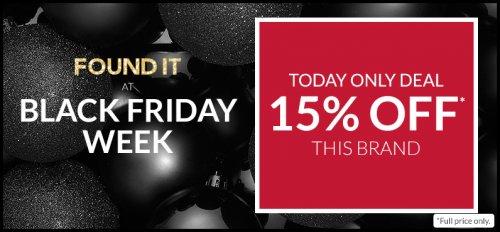 Debenhams Black Friday deals - 15% off Benefit - TODAY ONLY