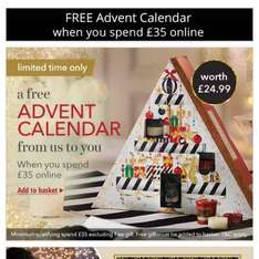 Free Yankee Candle Advent calendar worth £25 when you spend £35