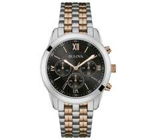 Bulova Mens' Two Tone Chrono Stainless Steel Bracelet Watch £74.99@argos