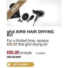 GHD AIR HAIR DRYER SET £74.40 after coupon @ GHDhair instead of £115