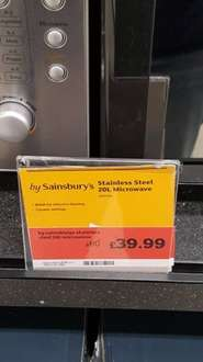 stainless steel 20l microwave - £39.99 instore @ Sainsbury's