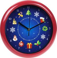 Musical Christmas Wall Clock [Plays a different Christmas song every hour] £3 @ The works  free c&c