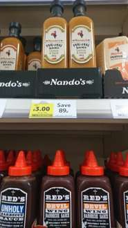 Nandos 500ml all flavours at £3 in tesco