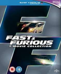 Fast & Furious - 7 Movie Collection Blu Ray Box Set with UltraViolet £15.92 @ Zoom