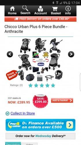 Chicco Urban Plus 6 Piece Bundle £289 Saving £399 at online4baby