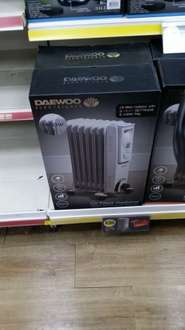oil filled  radiator 1500 w 3 heat settings £20 @ poundland instore