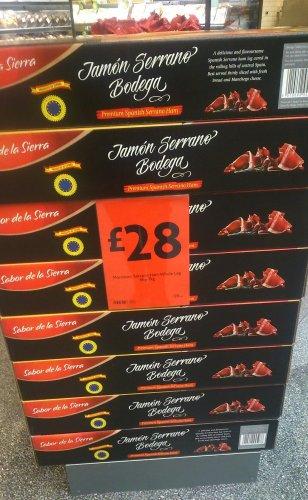 Premium Jamon Serrano Bodega - Whole Leg of Ham with a free stand - 6kg/7kg £28 @ Morrisons