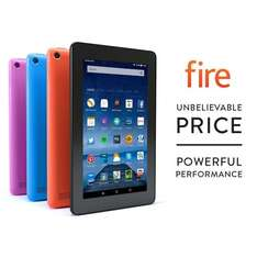 "USED Fire Tablet, 7"" Display, Wi-Fi, 8 GB (Blue) - Includes Special Offers £24.40 @ Amazon"