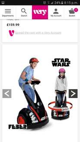 Star wars ride on £159.99 @ very