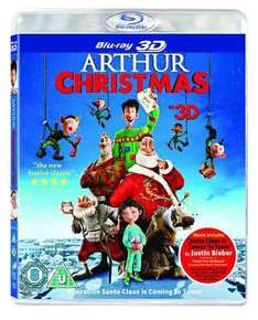 Arthur Christmas (Blu-ray 3D + UV Copy) £2.87 via Amazon (£4.86 non-Prime)