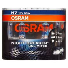 Osram Night Breaker UNLIMITED Performance Bulbs H7 Twin Pack  £9.30  eurocarparts with code