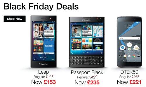 Blackberry Black Friday Sale... Priv for £280 and Dtek 50 included for £220