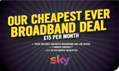 Cheap Sky Deal  instore Carphone Warehouse - £15pm for 12 months =  £180