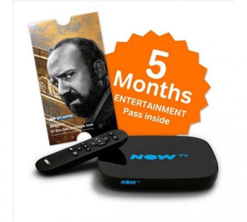 50% Black Friday NOW TV Smart Box + 4M Cinema or 5M Entertainment £34.99 @ NOWTV + £5.50 Quidco/TCB