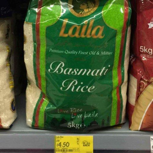 Laila 5KG Basmati Rice Was £10 now £4.50 at Asda