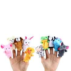 10 Pcs Animal Educational Finger Puppets Toys £2.38 @ Gearbest