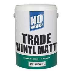 No Nonsense Trade vinyl matt paint brilliant white 5ltr £4.59 down from £9.59 @ Screwfix with Free Click and collect