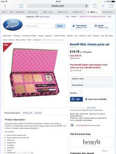 Benefit Real Cheek Party Set Was £29.50 Now £14.75 at Boots Online