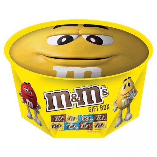 M&M's Red/Yellow  Round Gift Box 342G Half Price £2.00 @ Tesco