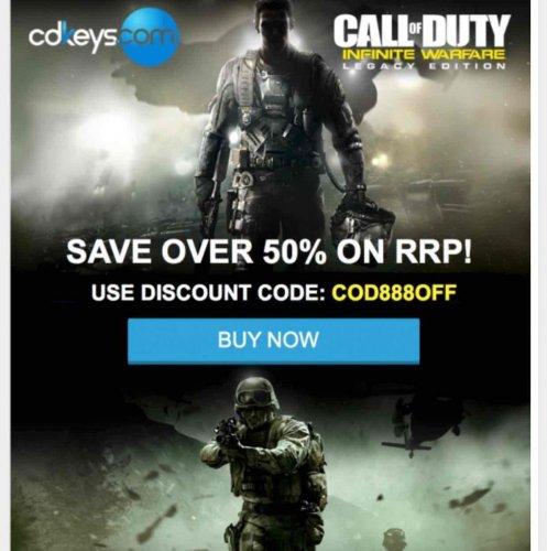 Call of Duty Infinite Warfare Legacy Edition 50% off RRP code (PC) £29 @ CD Keys