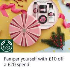 spend £20 get £10 off at body shop with  o2 priority
