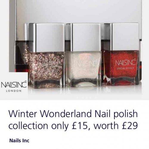 nails inc nail varnish £29 to £15 o2 priority deal