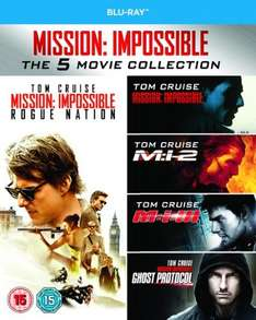 Mission Impossible 1-5 [Blu-ray] £10.80 using code @ Zoom.co.uk
