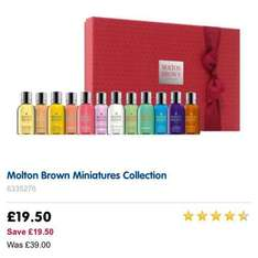molton brown miniatures - £19.50 @ Boots