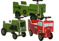 Kiddimoto Wooden Ride Ons Fire Engine / Tractor / Army Truck -  £25 Each @ Halfords  (Free C&C) or Halfords Ebay