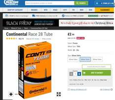 700c Continental Race 28 Innertubes £3 @ Chain reaction cycles (£1.99 collect+ del / free over £9)