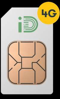 iD Sim Only £5 1.5GB Data 250 minutes 5000 texts - one month rolling contract
