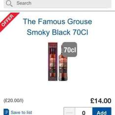 Famous Grouse Smoky Black 70cl. £14 at Tesco (Free C&C). Whisky