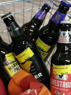 Morrisons reduced Ales and Wines instore from 83p - Found Binley